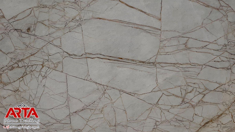 سنگ اسلب سفید طلایی رز کریستال